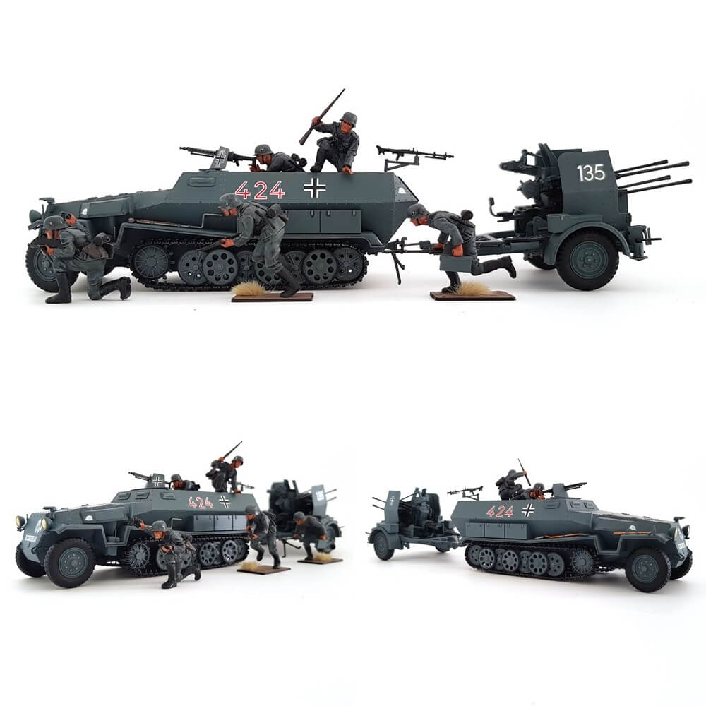 1:35 German HANOMAG Sd.Kfz. 251/1 with 20mm FLAKVIERLING 38 from TAMIYA