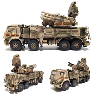 1:35 Russian PANTSIR-S1 Self-Propelled Anti-Aircraft System SA-22 GREYHOUND from ZVEZDA