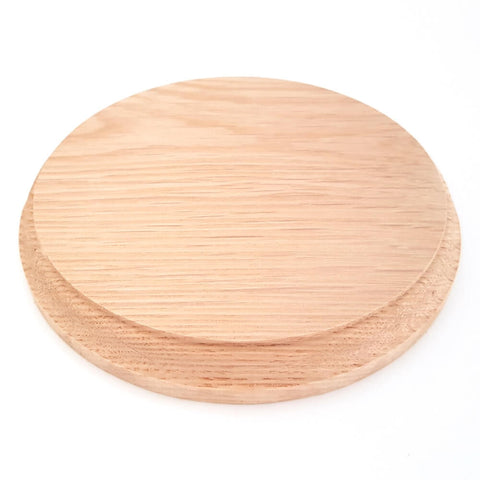 Solid OAK round base 150 x 20 mm / 6 x ¾ inch