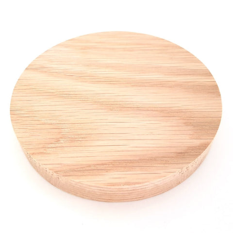Solid OAK round plaque 125 x 20 mm / 5 x ¾ inch