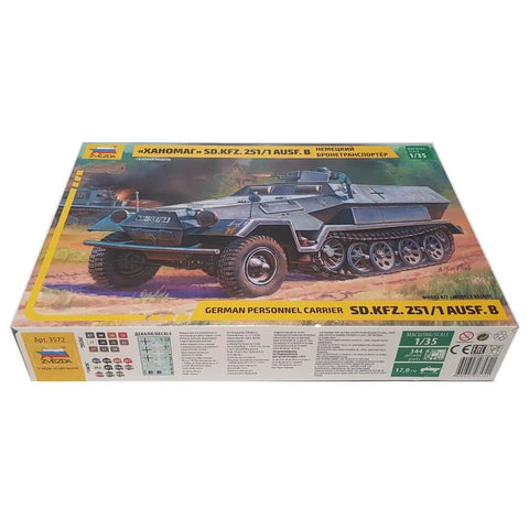 1:35 German HANOMAG Sd.Kfz.251/1 Ausf. B Armored Carrier - ZVEZDA