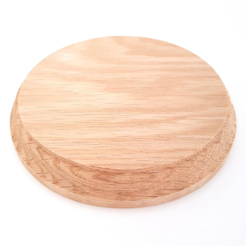 Solid OAK round base 125 x 20 mm / 5 x ¾ inch