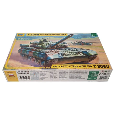 1:35 Soviet T-80BV Main Battle Tank with ERA - ZVEZDA
