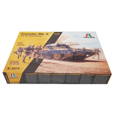 1:35 British CRUSADER Mk. II with 8th Army Infantry - ITALERI
