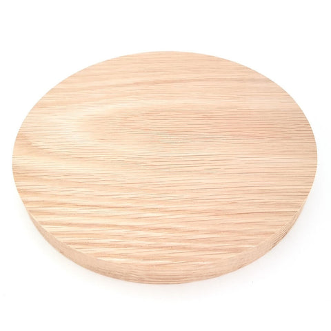 Solid OAK round plaque 200 x 20 mm / 8 x ¾ inch