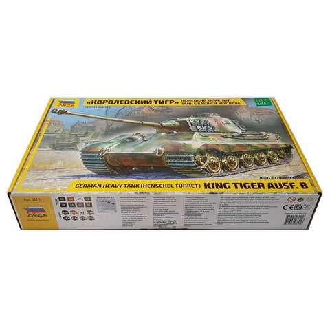 1:35 German Heavy Tank KING TIGER Ausf. B with Henschel Turret - ZVEZDA