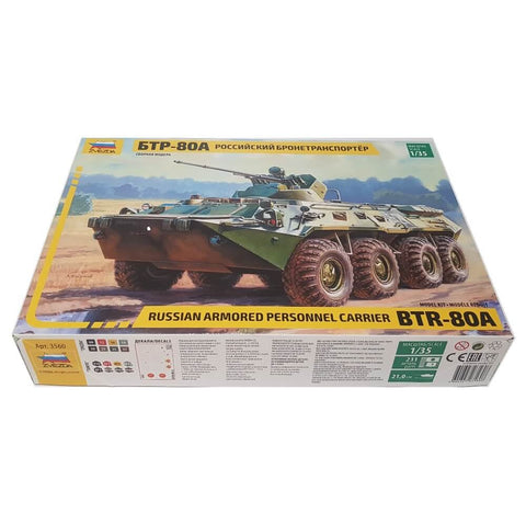 1:35 Russian BTR-80A Personal Armored Carrier - ZVEZDA