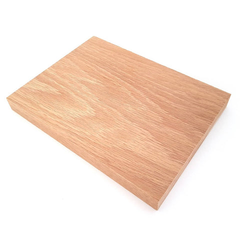 Solid OAK rectangular plaque 150 x 200 x 20 mm / 6 x 8 x ¾ inch