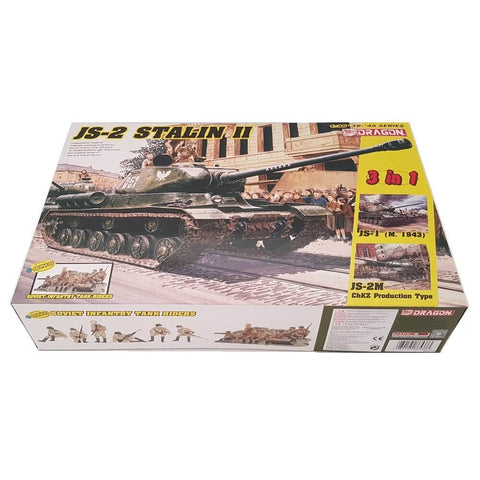1:35 Soviet JS-2 Stalin II with Infantry Tank Riders - DRAGON