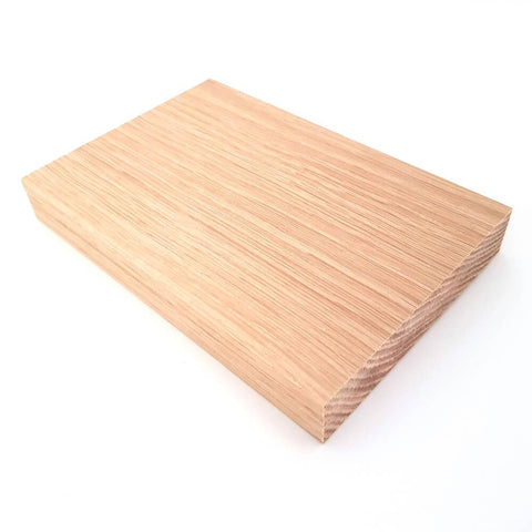 Solid OAK rectangular plaque 100 x 150 x 20 mm / 4 x 6 x ¾ inch