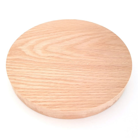Solid OAK round plaque 150 x 20 mm / 6 x ¾ inch