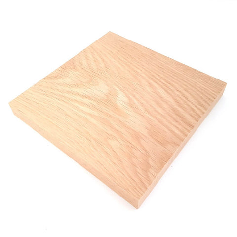 Solid OAK square plaque 175 x 175 x 20 mm / 7 x 7 x ¾ inch