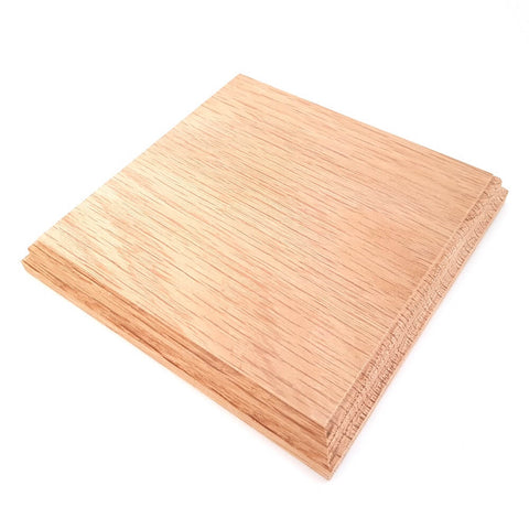 Solid OAK square base 150 x 150 x 20 mm / 6 x 6 x ¾ inch