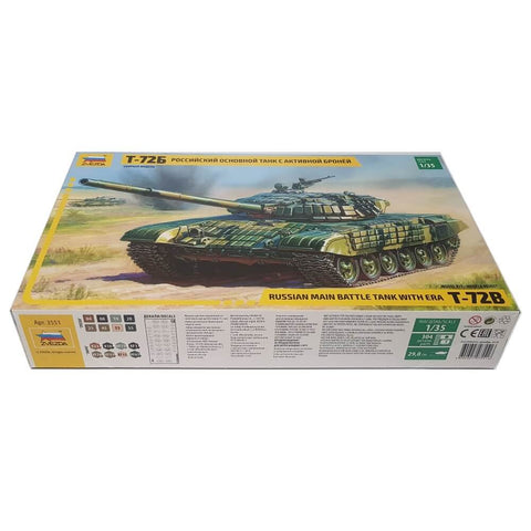 1:35 Russian T-72B Main Battle Tank with ERA - ZVEZDA