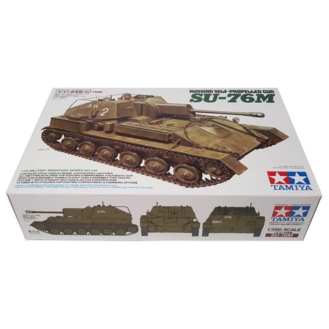 1:35 Russian SU-76M Self-Propelled Gun - TAMIYA