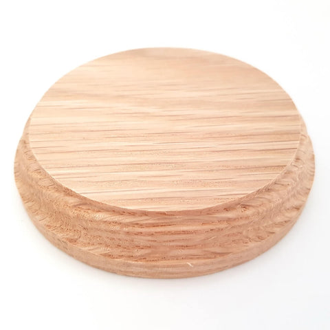 Solid OAK round base 100 x 20 mm / 4 x ¾ inch