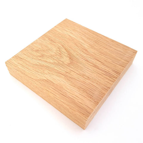 Solid OAK square plaque 100 x 100 x 20 mm / 4 x 4 x ¾ inch