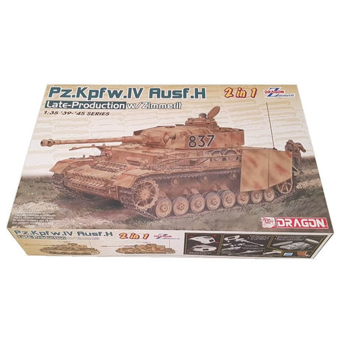 1:35 German Pz.Kpfw. IV Ausf. H Late Production with Zimmerit - DRAGON