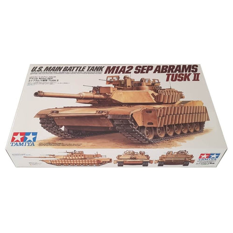 1:35 US Army Main Battle Tank M1A2 SEP Abrams Tusk II - TAMIYA