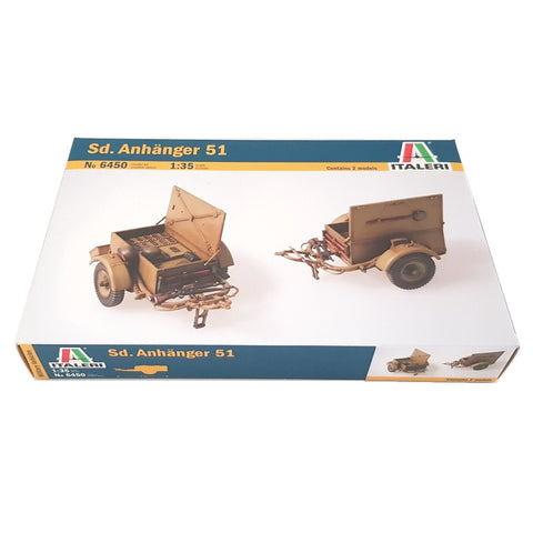 1:35 German Sd. Anhanger 51 Trailer - ITALERI