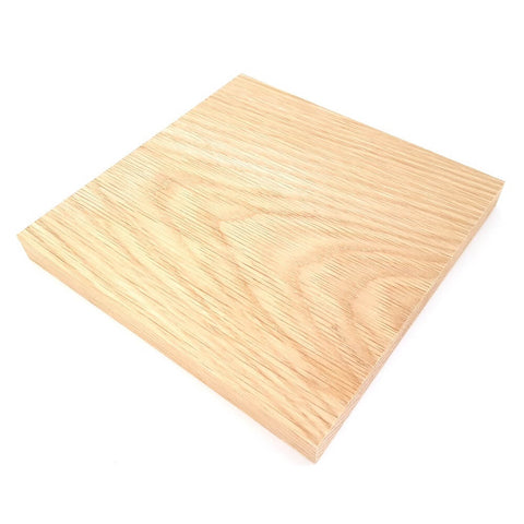 Solid OAK square plaque 200 x 200 x 20 mm / 8 x 8 x ¾ inch