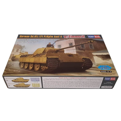 1:35 German Sd.Kfz. 171 PzKpfw Ausf A with Zimmerit - HOBBY BOSS