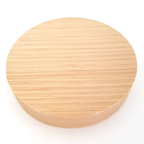 Solid OAK round plaque 100 x 20 mm / 4 x ¾ inch