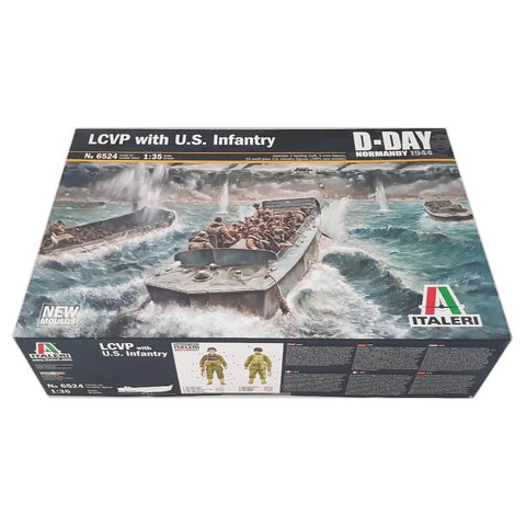 1:35 US LCVP with Infantry D-Day Normandy 1944 - ITALERI