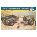 1:35 US Army 250 Gallons Tank Trailer and M101 Cargo Trailer - ITALERI