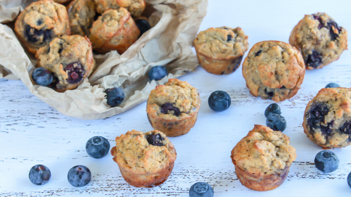Mini Gluten-Free Blueberry Muffins