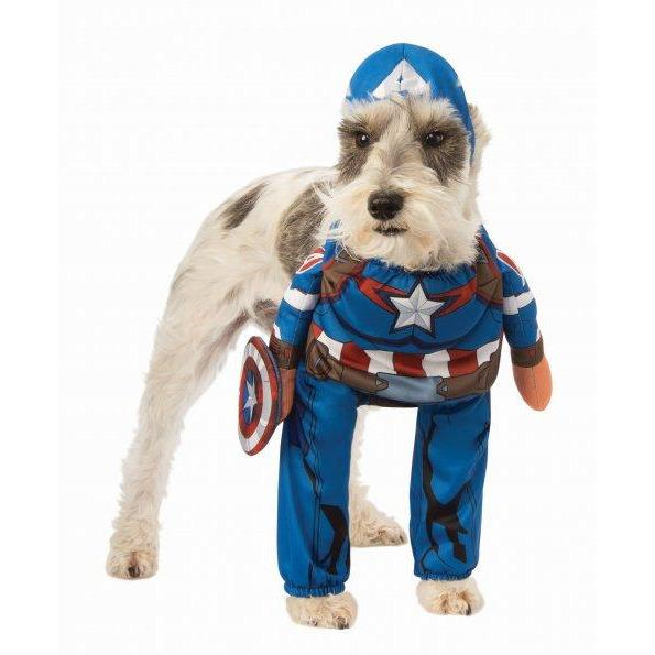 Captain America Walking Pet Costume - Thorito's Closet