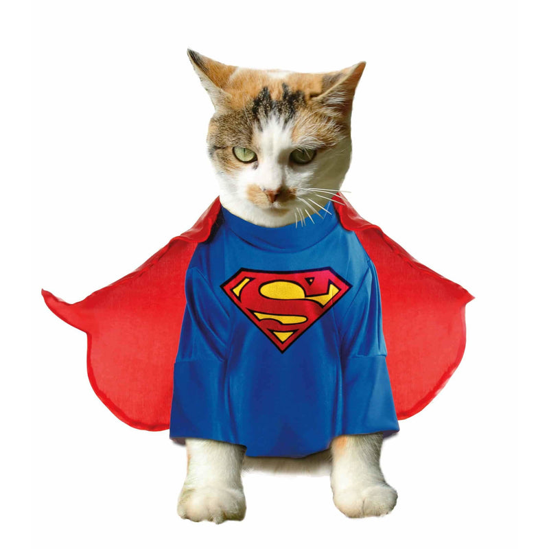 Superman Cat Costume (S-L) - Thorito's Closet