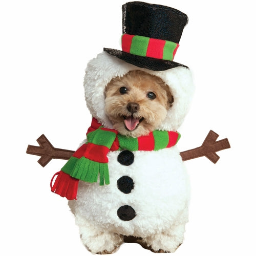 Walking Snowman Pet Costume