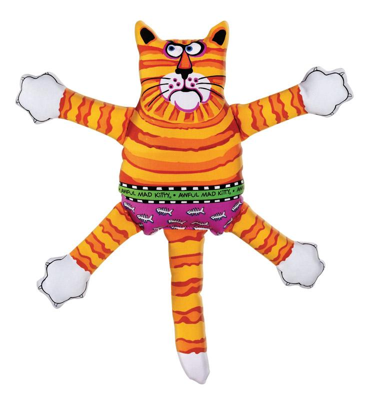 Fat Cat  Multicolored  Assorted Styles  Nylon  Squeak Dog Toy  Small - Thorito's Closet