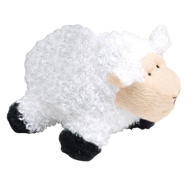 Multicolored  Sheep  Plush  Dog Toy - Thorito's Closet