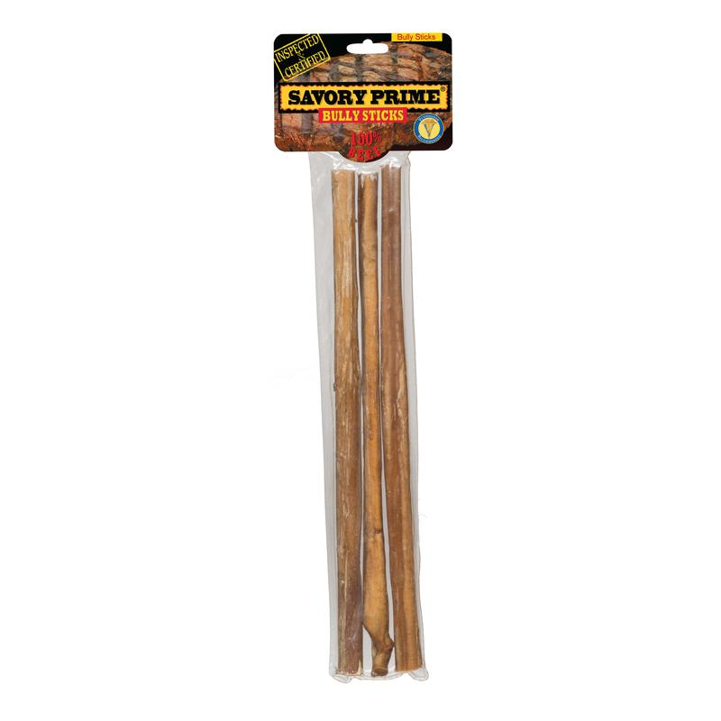 Savory Prime Bully Sticks Beef  Grain Free Treats  For Dog 12 in. 3/pk - Thorito's Closet