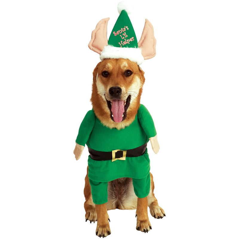 Santa's Helper Walking Elf Pet Costume