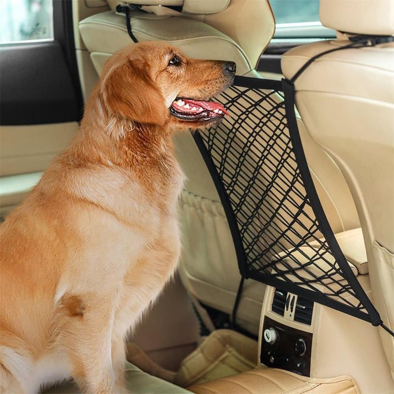 Car Dog Pet Seat Stretchy Universal Net Barrier - Thorito's Closet