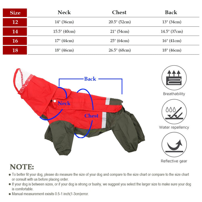Dog Raincoat Reflective Waterproof Dog Overall - Thorito's Closet