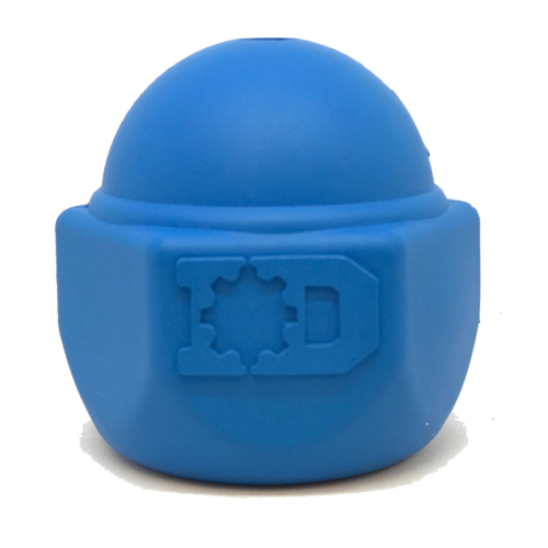ID Cap Nut Ultra-Durable Rubber Chew Toy and Treat Dispenser - Blue - Thorito's Closet