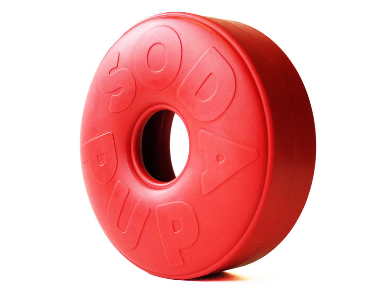 SP Life Ring Durable Rubber Chew Toy & Treat Dispenser - Large - Red - Thorito's Closet