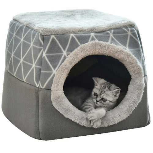 Pet Cat Dog Nest Dual Use Warm Soft Sleeping Bed Pad For Pet Non-Slip - Thorito's Closet