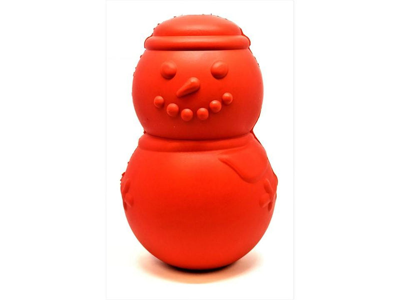 MKB Snowman Durable Rubber Chew Toy & Treat Dispenser - Large - Red - Thorito's Closet