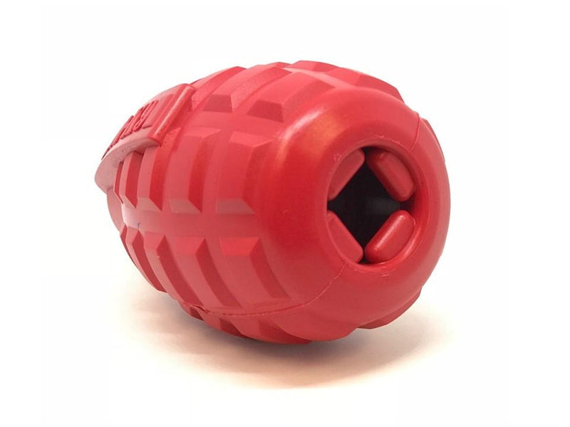 USA-K9 Grenade Durable Rubber Chew Toy & Treat Dispenser - Red - Thorito's Closet