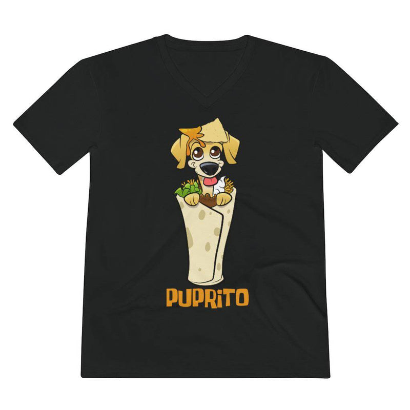 Puprito Dog Shirt Dog In Burrito Shirt - Men's Lightweight V-Neck Tee (Thorito EXCLUSIVE DESIGN) - Thorito's Closet