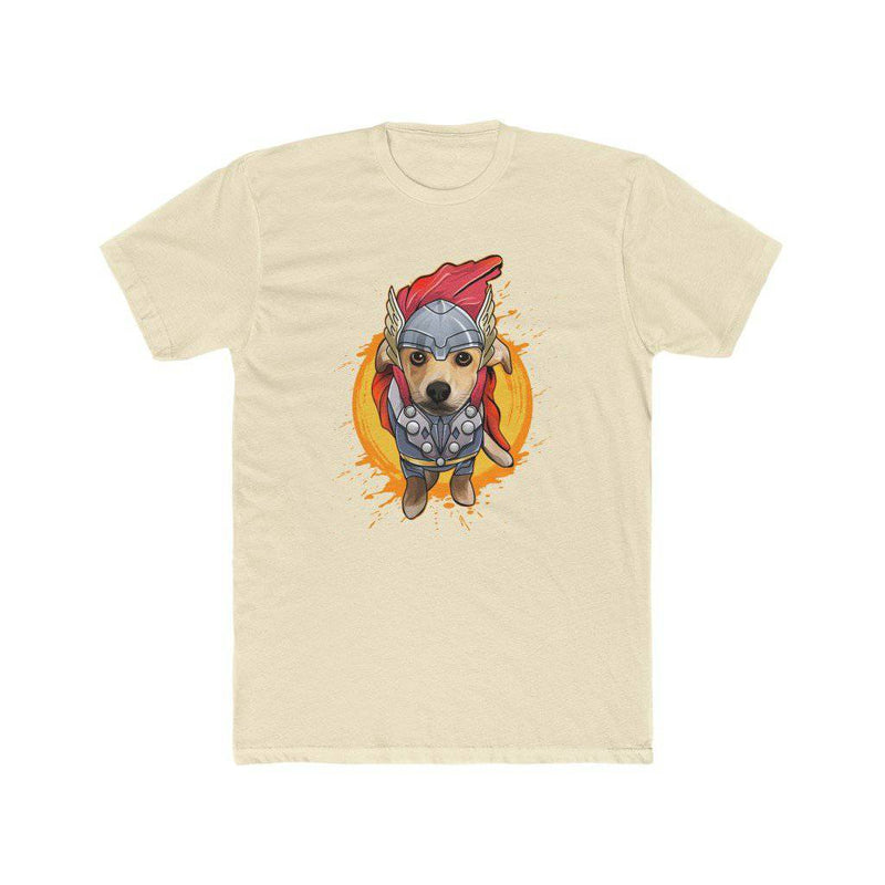 Thor the Pomchi - Men's Cotton Crew Tee (THORITO EXCLUSIVE DESIGN) - Thorito's Closet
