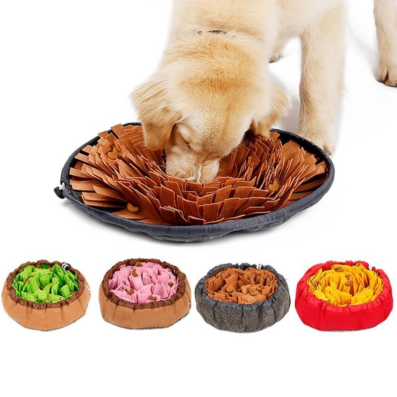 Pet Felt Cloth Leak Food Anti Choking Bowl Mat Dogs Cats Snuffle Bowl - Thorito's Closet