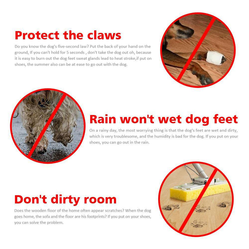 4pcs Antiskid Puppy Shoes Pet Protection Soft-Soled Pet Dog Shoes Summer/Winter Waterproof Prewalkers (S-XXXL) - Thorito's Closet