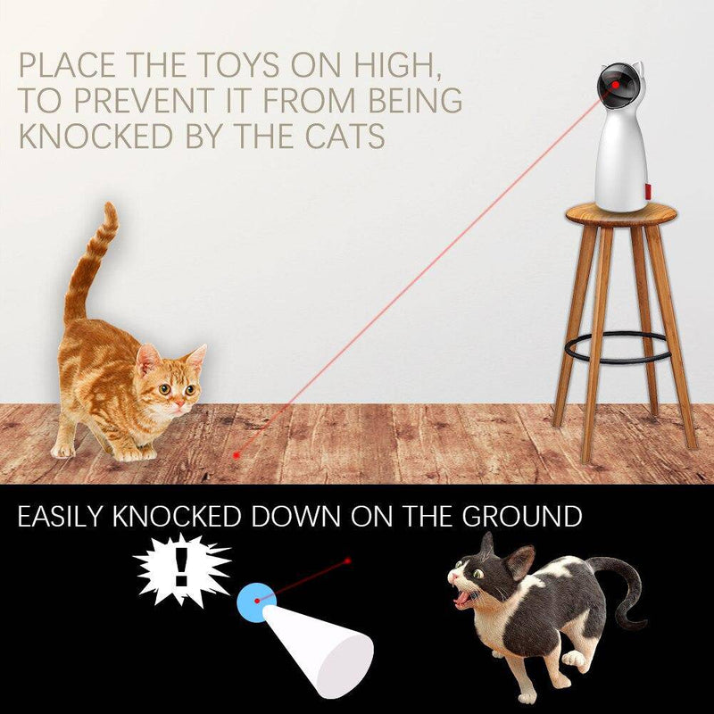 Automatic Electric Cat Toy Laser Pointer For Cats Dogs Pets 360 Degree Adjustable Circling Ranges - Thorito's Closet