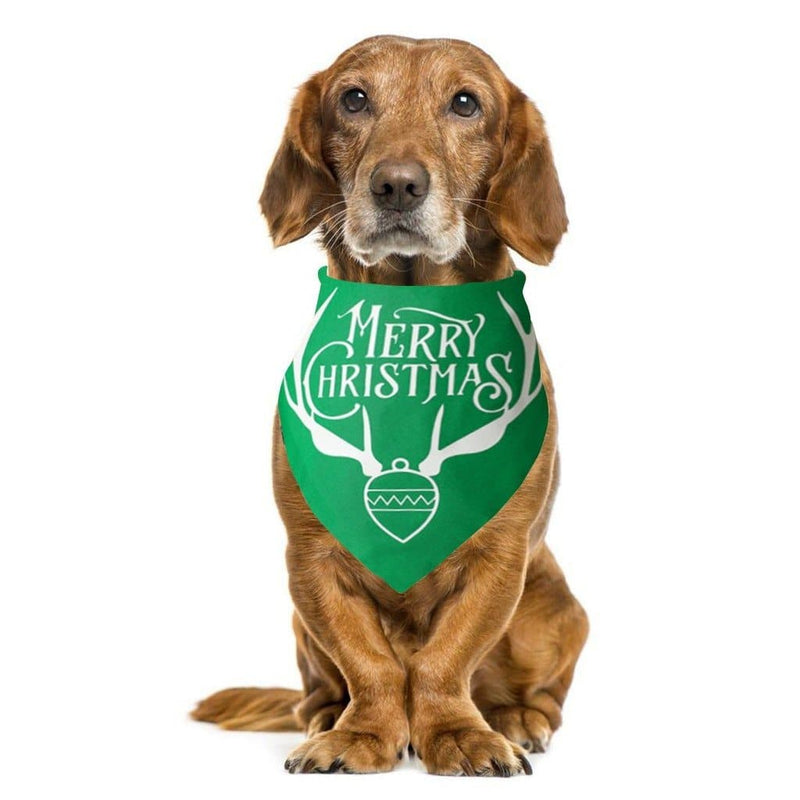 Merry Christmas Pet Neckerchief Bandanas Multiple For Pets Dogs Cats - Thorito's Closet